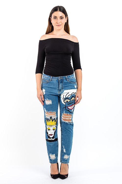 Jeans Relaxed Fit mit Paillettenbesatz