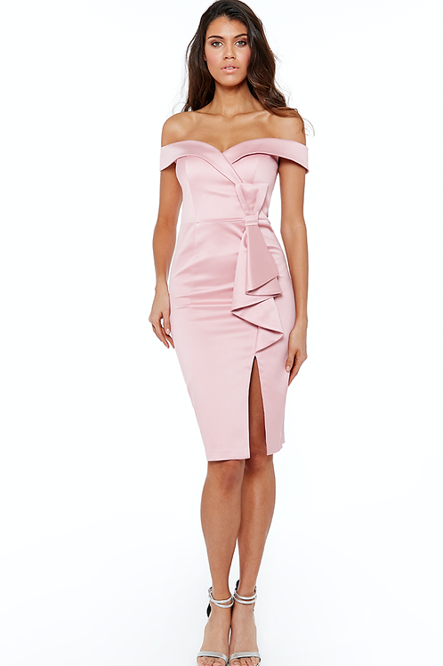 Cocktailkleid aus Stretch - Satin