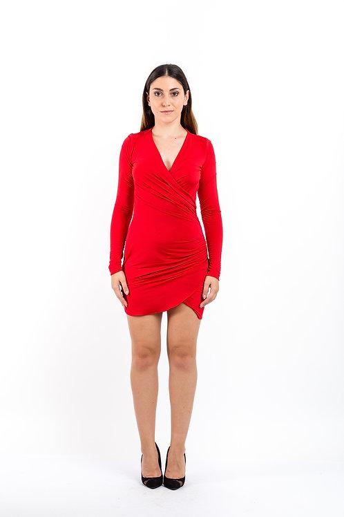 Kleid mit Raffung aus Jersey
