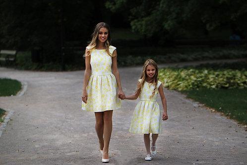 Kleid aus Neopren mit Blumenprint
