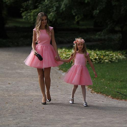 Kleid aus Neopren mit Tüllrock