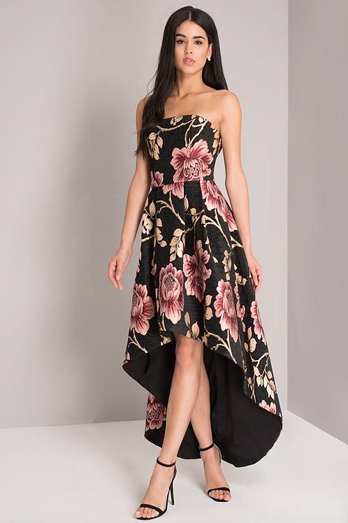 Bandeau Vokuhila Kleid mit Eingrifftasche