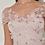 Thumbnail: 3D Blumen Midi-Kleid mit Bardot-Ärmeln
