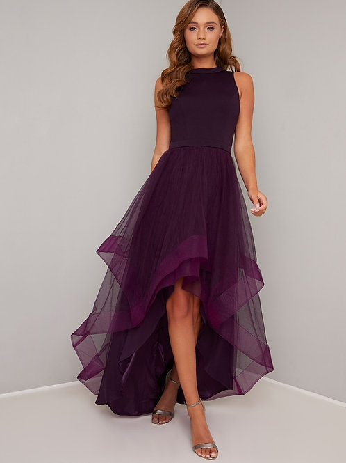 Kleid mit Tüll - Dip - Saum