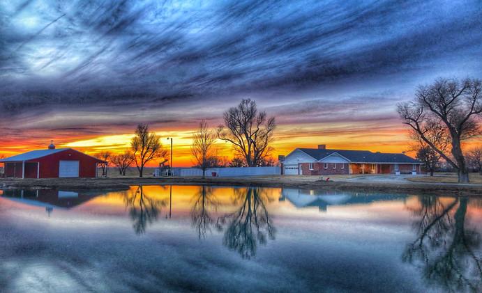 Sunset at Aster Estates