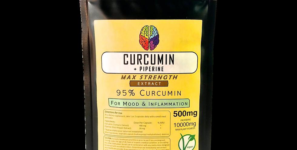 Pure Curcumin & Piperine (500mg Capsules)