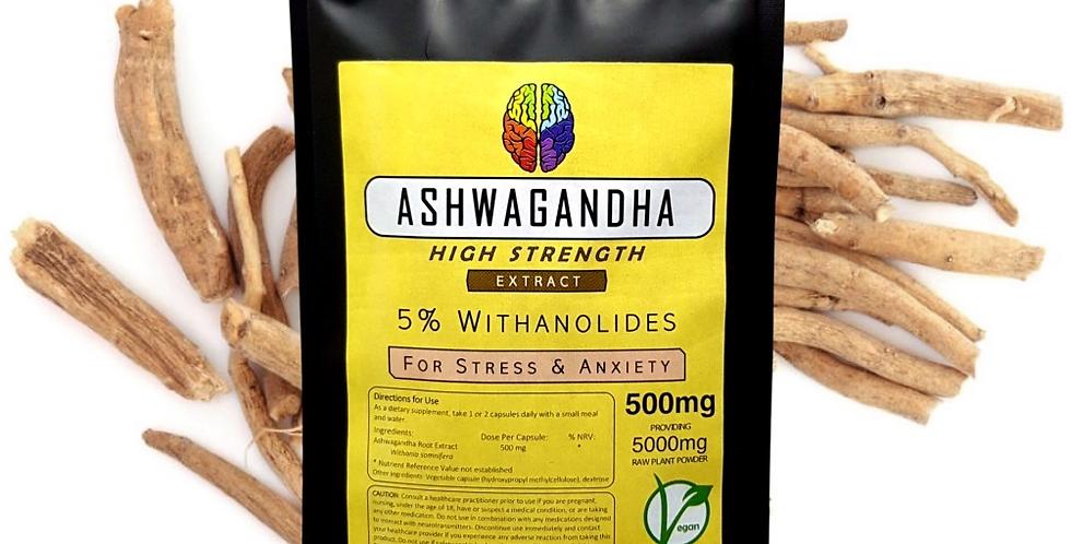 Ashwagandha Root 5% Extract (500mg Capsules)