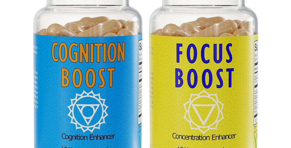 The Brainpower Pack - Focus Boost™ & Cognition Boost™