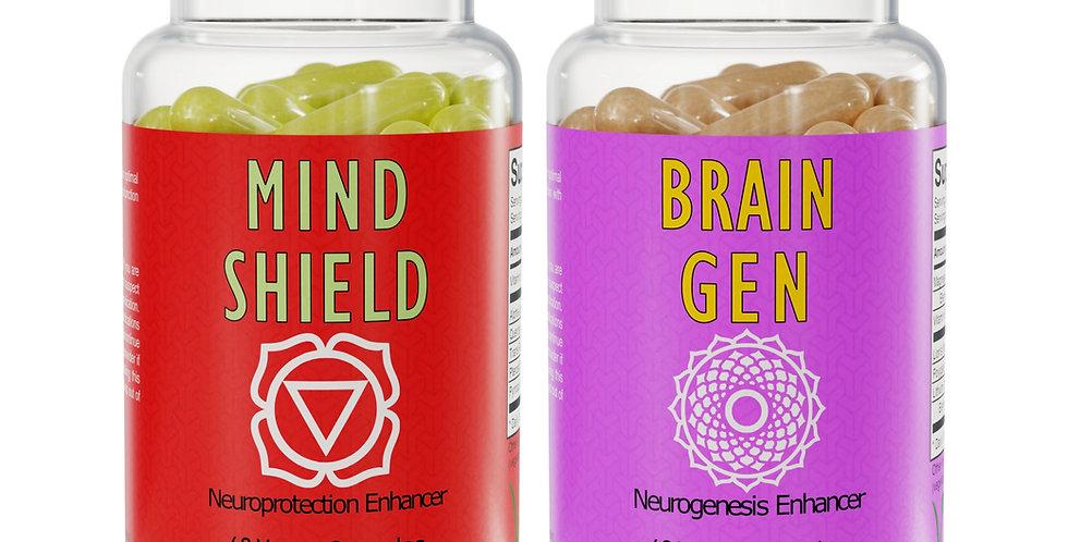 The Brain Health Pack - Mind Shield™ & Brain Gen™