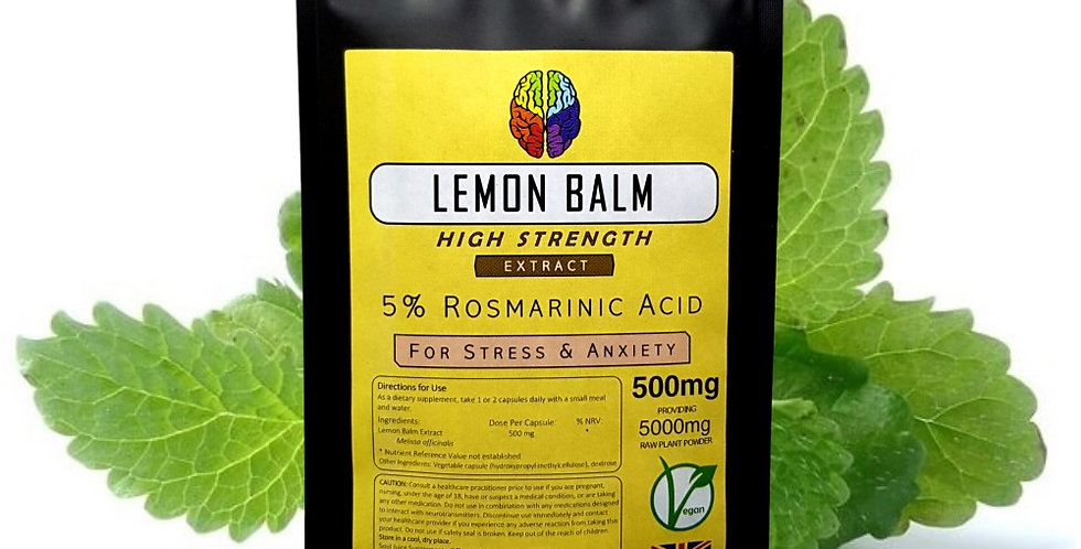 Lemon Balm 5% Extract (500mg Capsules)