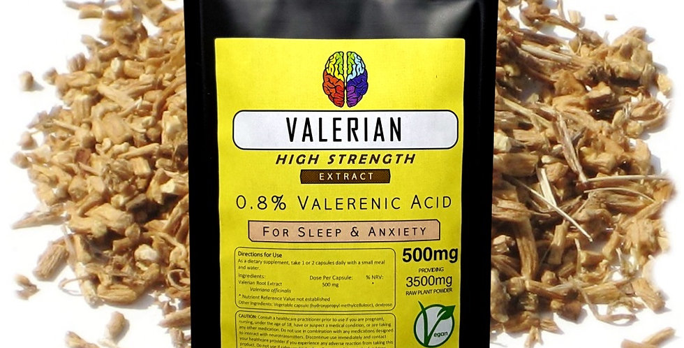 Valerian Root 0.8% Extract (500mg Capsules)