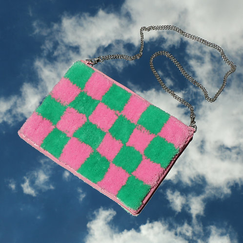 The Evie - Green/Pink Check