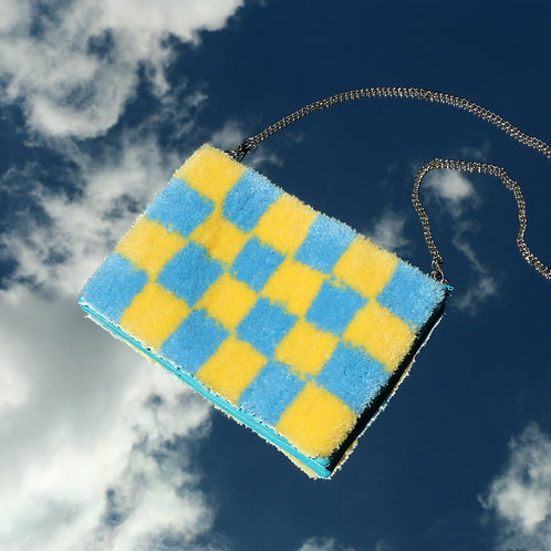 The Evie - Blue/Yellow Check