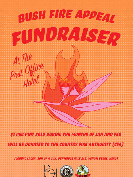 Post Office Hotel Fundraiser Poster, 2020