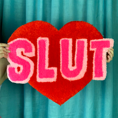 Fluffy Slut Wall Hanging