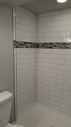 bathroom shower in progress