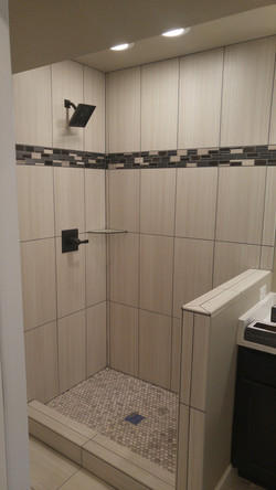 shower tile with deco band
