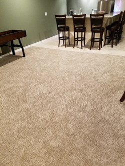 Carpet in new finished basement