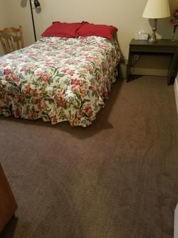 Pattern carpet in basement
