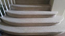 pattern carpet on custom staircase