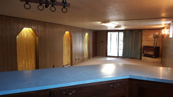 20 Basement den or family room with bar