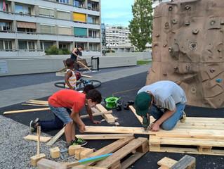 Co-production mobilier urbain à l'esplanade du Vélodrome