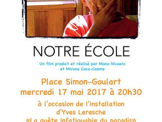"""Projection du film documentaire """"Notre école"""""""
