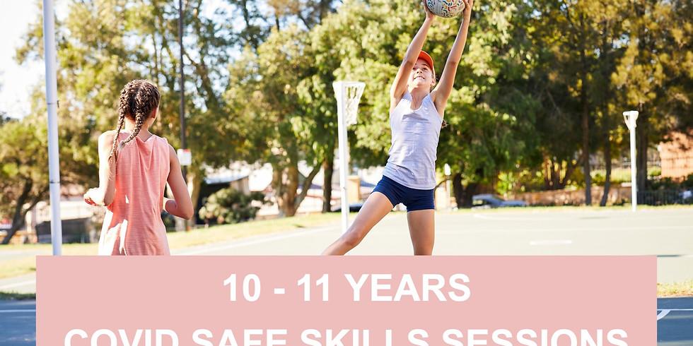 10 - 11 Years: Netball Covid safe drills