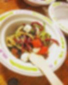 Salade de spaghettis de courgettes et be