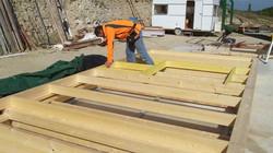 Fabrication de murs à ossature bois