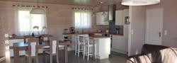 Intérieur maison à ossature bois