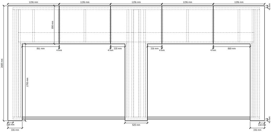 Plan de contreventement mur ossature bois