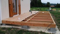 Terrasse en bois de douglas et mélèz