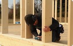 Assemblage murs ossature bois