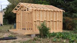 Abri de jardin en ossature bois