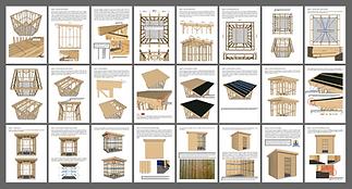 Plans abri jardin ossature bois