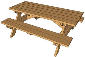 Plans fabrication table de jardin en bois