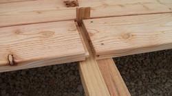Terrasse en bois jonction de lame