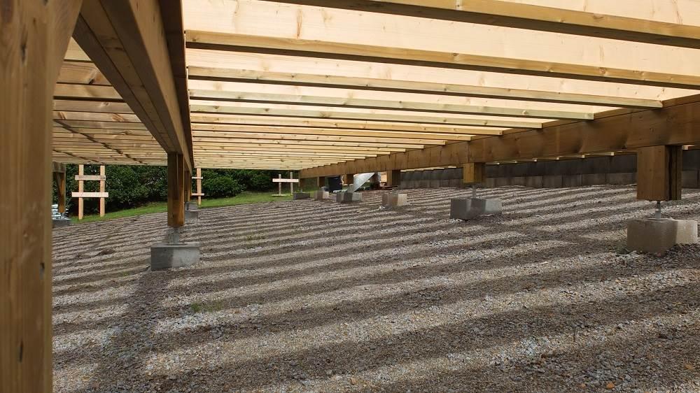 Solivage bois pour dalle en bois