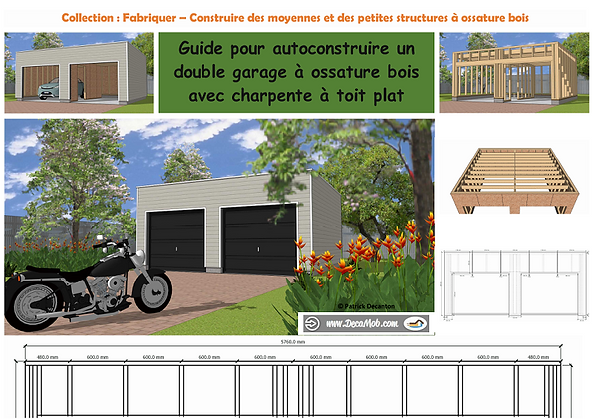 Autoconstruction garage ossature bois toit plat