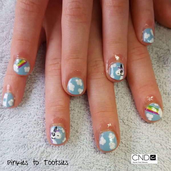 Easter Unicorn Nails
