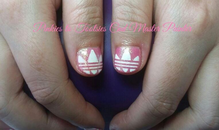Adidas Themed Nails