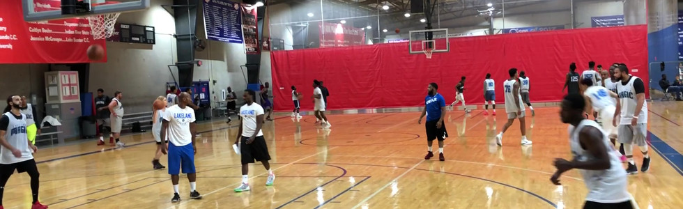DeVaughn Green hits 3 at the Lakeland Magic G-League Tryout