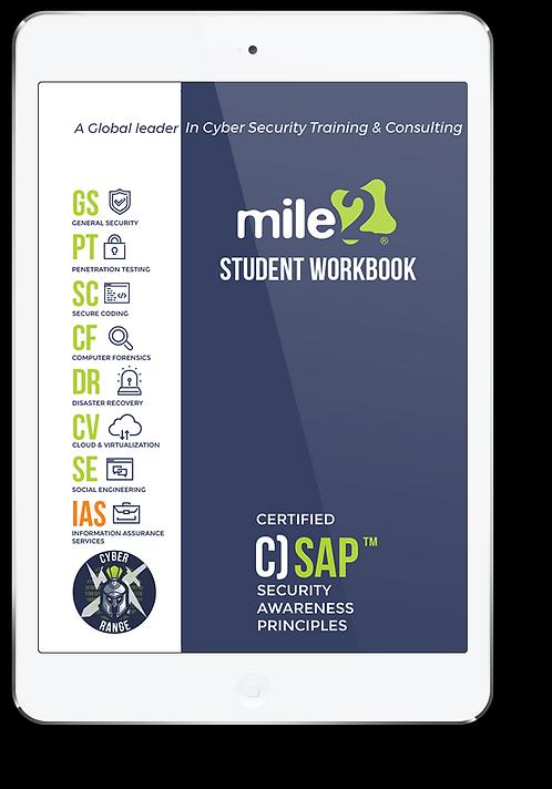 C)SAP - Certified Security Awareness Principle - Online Only Self Study Book