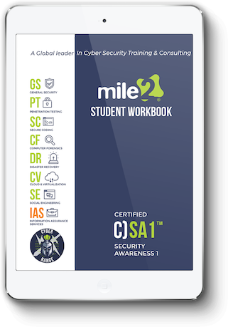 C)SA1- Certified Security Awareness 1 - Online Only Self Study Book