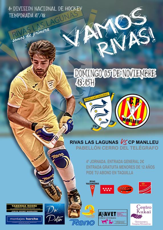 Este domingo, Rivas vs CP Manlleu.