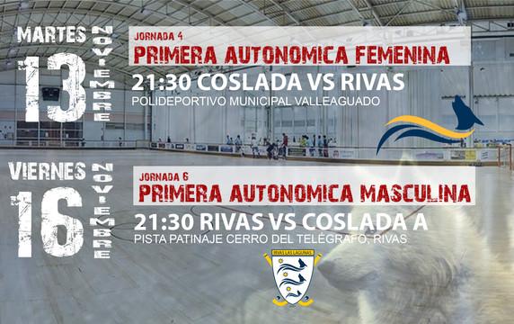 Esta semana se adelantan los partidos de los equipos de 1ª Autonómica
