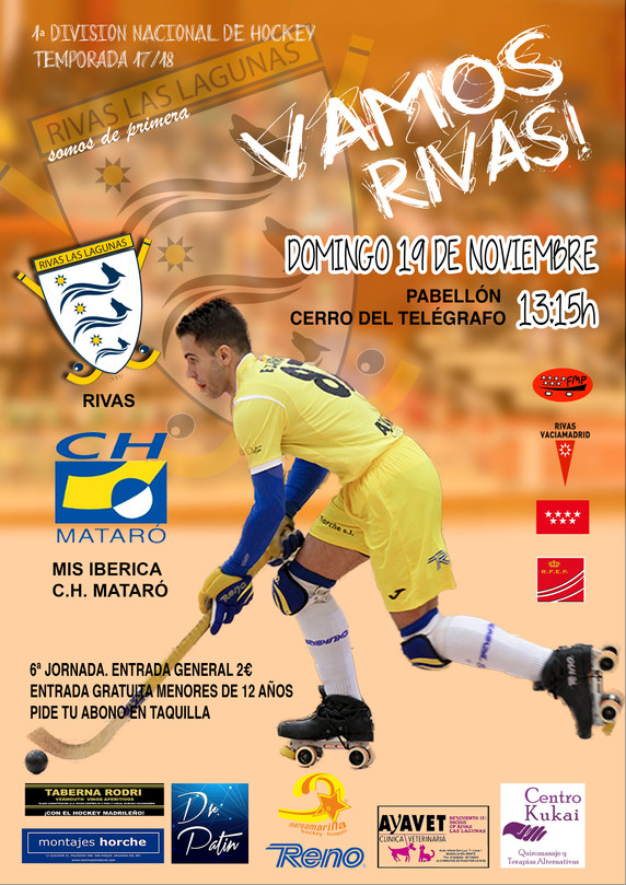 Domingo de hockey, Rivas vs CH Mataró