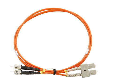 5Mtr SC to ST OM1 DX Multimode Fibre Patch Lead