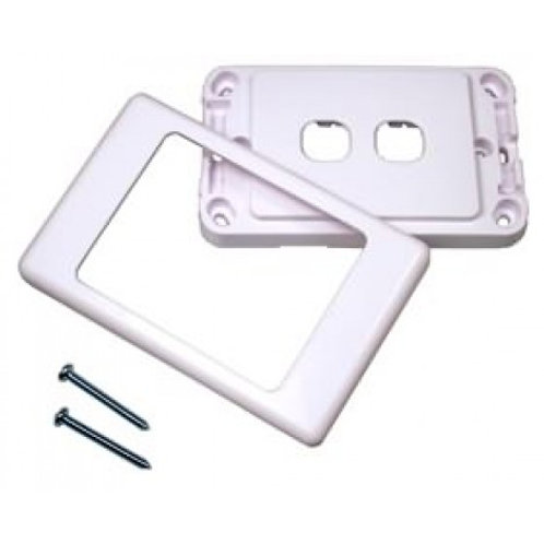 2 Gang Generic Clipsal 2000S Style Wall Plate